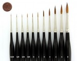 Kolinsky Red Sable Brush-Set Size 6 to 10/0