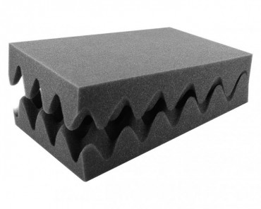 HS070N 70 mm (2.8 Inch) Convoluted foam half-size 2pcs.
